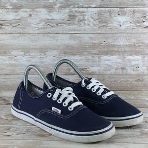 Vans Era Low Canvas Womens 8 Navy Skate Shoe